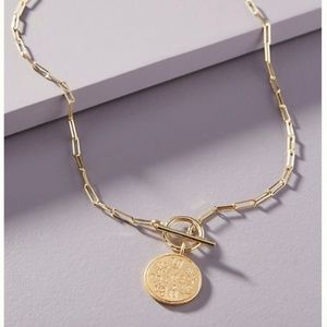 NWT Anthropologie Gold Maris Necklace